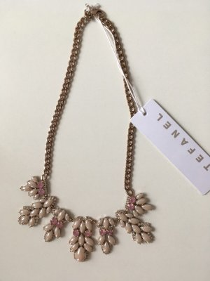 Stefanel Collier Necklace light pink-white