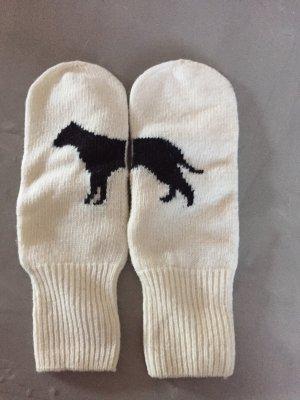 Stefanel Handschuhe, Wolle, Motiv Hund