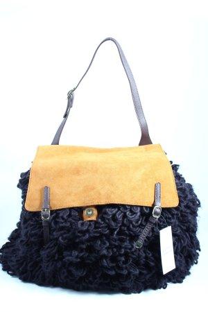 Stefanel Handtasche schwarz-braun extravaganter Stil