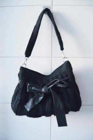 Stefanel Handtasche vintage schleife Strick