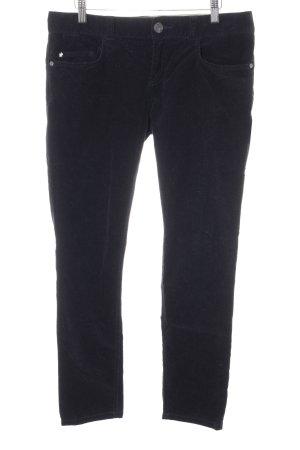 Stefanel Pantalon taille haute bleu foncé style décontracté