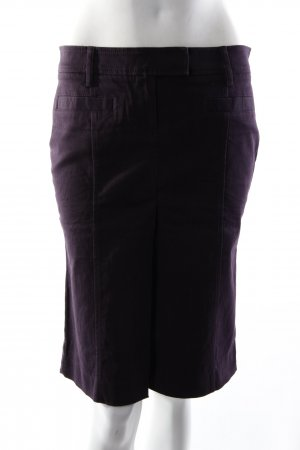 Stefanel High Waist-Rock dunkellila