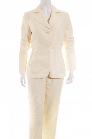 Stefanel Tailleur-pantalon crème style décontracté