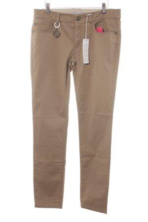 Stefanel pantalón de cintura baja marrón claro look casual