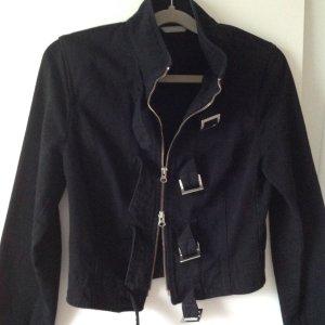 STEFANEL Jacke aus Drill schwarz Gr. 36