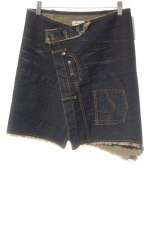 Stefanel Jeansrock dunkelblau extravaganter Stil