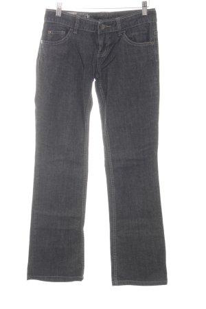 Stefanel Spijker flares lichtgrijs Jeans-look