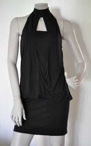 Stefanel Jersey Kleid Longtop Viskose schwarz Gr. L WIE NEU