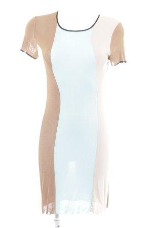 Stefanel Jerseykleid Colourblocking Casual-Look