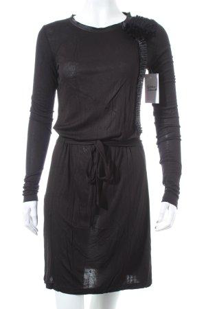 Stefanel Jerseykleid schwarz klassischer Stil