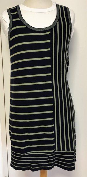 Stefanel Jerseystrickkleid mit witzigen Streifen d'blau/grün