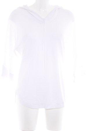 Stefanel Top à capuche blanc style décontracté