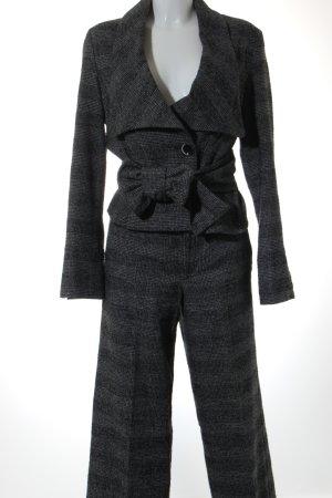 Stefanel Tailleur gris motif Vichy élégant