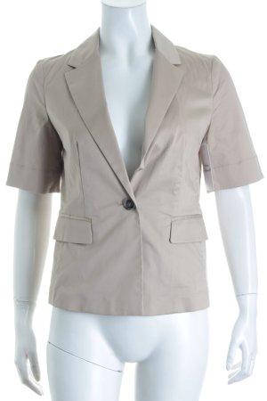 Stefanel Kurz-Blazer hellbraun-beige minimalistischer Stil