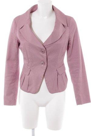 Stefanel Kurz-Blazer rosa Ornamentenmuster Elegant