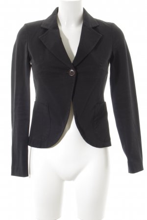 Stefanel Kurz-Blazer schwarz Business-Look