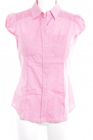 Stefanel Kurzarm-Bluse rosa Business-Look
