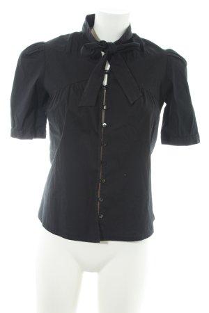Stefanel Camicia a maniche corte nero elegante