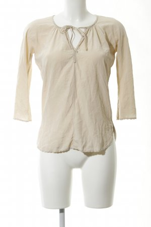 Stefanel Langarm-Bluse creme Casual-Look