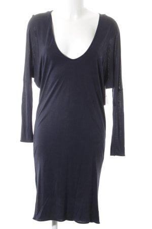 Stefanel Langarmkleid dunkelblau schlichter Stil