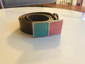Stefanel Cinturón de cuero multicolor