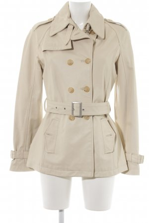 Stefanel Leather Coat cream elegant