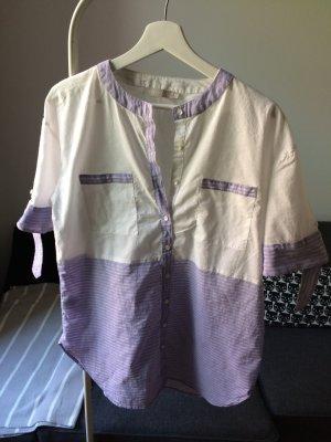 STEFANEL leichte Tunika Hemd Bluse Gr. M weiß Super!