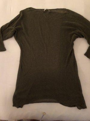Stefanel Leinen Shirt grün
