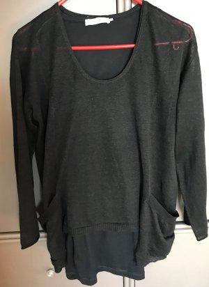 Stefanel Oversized Sweater black linen