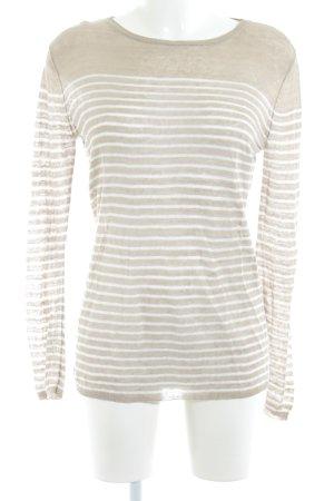 Stefanel Longshirt beige Streifenmuster Casual-Look