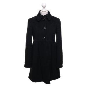 Stefanel Abrigo de lana negro Lana