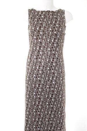 Stefanel Maxi abito marrone-grigio-bianco sporco motivo grafico stile casual