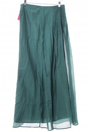 Stefanel Jupe longue bleu pétrole style extravagant
