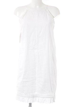 Stefanel Vestido de cuello Halter blanco Estilo playero