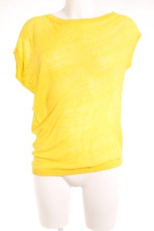 Stefanel One-Shoulder-Shirt gelb Casual-Look