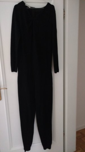 Stefanel Overall Einteiler Jumpsuit Gr L (38/40) schwarz. Cashmere, Wolle