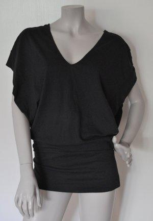 Stefanel Oversize Shirt Seiten offen Baumwolle schwarz Gr. M – WIE NEU