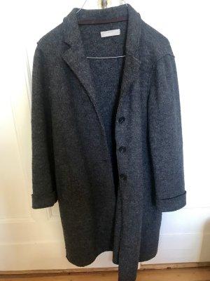 Stefanel oversized Mantel Übergangsmantel grau meliert S
