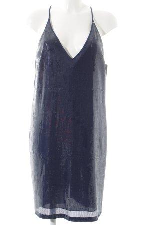 Stefanel Pailettenkleid dunkelblau Elegant