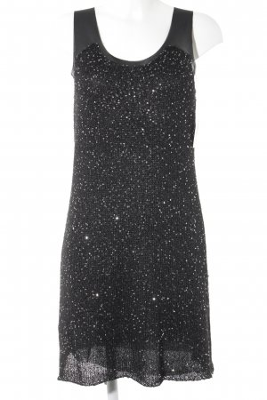 Stefanel Pailettenkleid schwarz-silberfarben Elegant