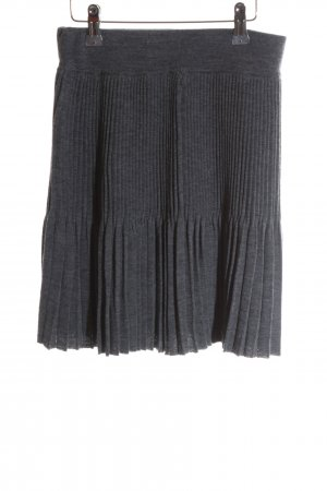 Stefanel Pleated Skirt light grey casual look