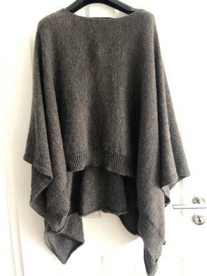 Stefanel Knitted Poncho grey brown
