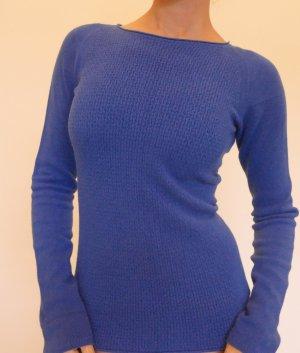 Stefanel Pullover Gr L/M 40 Blau Rundhals made in Italy