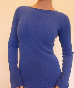 Stefanel Pullover Gr L/M 40 Blau Rundhals made in Italy