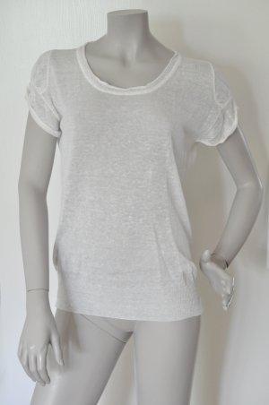 Stefanel Short Sleeve Sweater white linen
