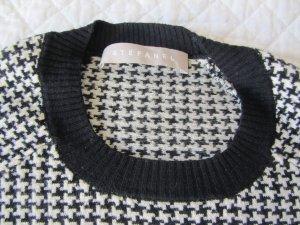 Stefanel Short Sleeve Sweater white-black