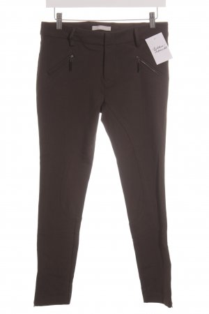 Stefanel Riding Trousers dark brown casual look
