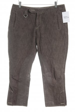 Stefanel Riding Trousers light brown-grey brown flecked rider style