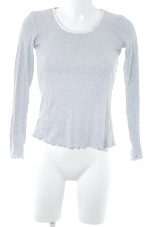 Stefanel Ribbed Shirt light grey casual look
