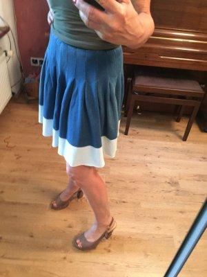 Stefanel Jupe à plis bleu-bleu azur